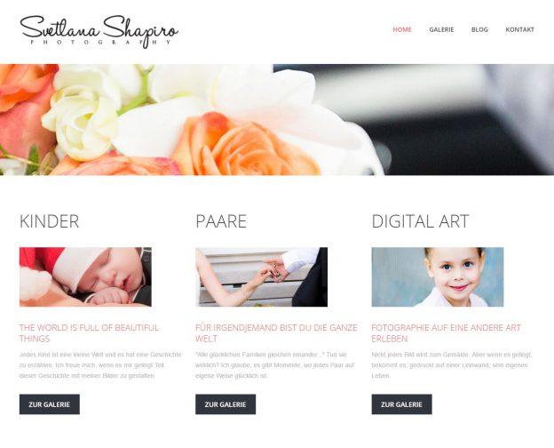 Svetlana Shapiro Website Screenshot